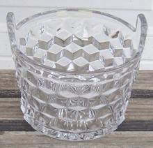 Vintage American Fostoria Clear Glass Ice Bucket