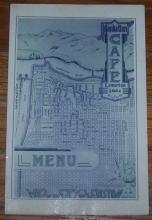 Vintage World War II Menu for Manhattan Cafe, Lewiston, Idaho 1943