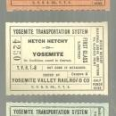 Lot of Three Vintage Railroad Tickets, First Class, Yosemite Valley Railroad Co