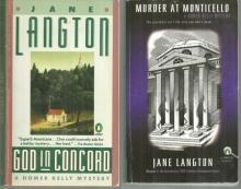 Lot of Two Homer Kelly Mysteries by Jane Langton God in Concord/Monticello