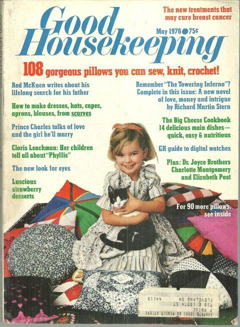 Good Housekeeping Magazine May 1976 Cloris Leachman/The Rich and Famous