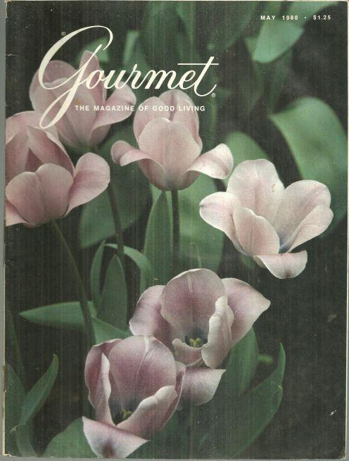 Gourmet Magazine May 1980 Blauwe Wimpel Tulips on Cover/Holland's Spring Flowers