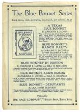 Two Sided Advertisement for The Page Company Girl's Series Books Blue Bonnet
