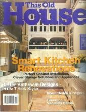 This Old House Magazine May 2001 Smart Kitchen Renovations on the Cover