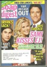 Soap Opera Digest Magazine May 13, 2008 Days Shocker, Sami Kisses EJ on Cover