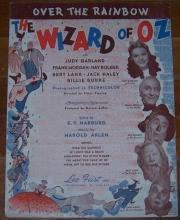 Over the Rainbow From The Wizard of Oz starring Judy Garland 1939 Sheet Music