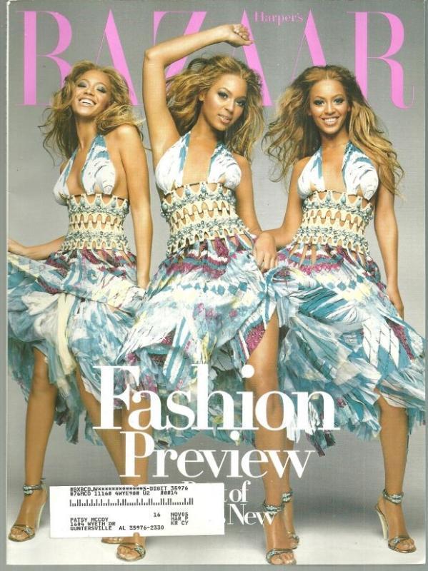 Harper's Bazaar Magazine June 2004 Beyonce Knowles On Cover/Cavalli's Kingdom