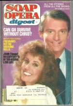 Soap Opera Digest July 6, 1982 Chris Robinson and Denise Alexander From GH