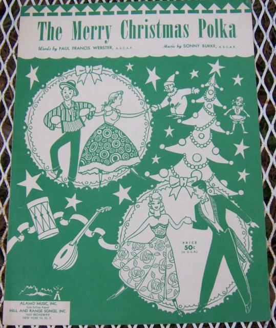 Merry Christmas Polka 1949 Guitar Sheet Music