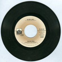 David Soul Sings Silver Lady and Rider 45RPM Record