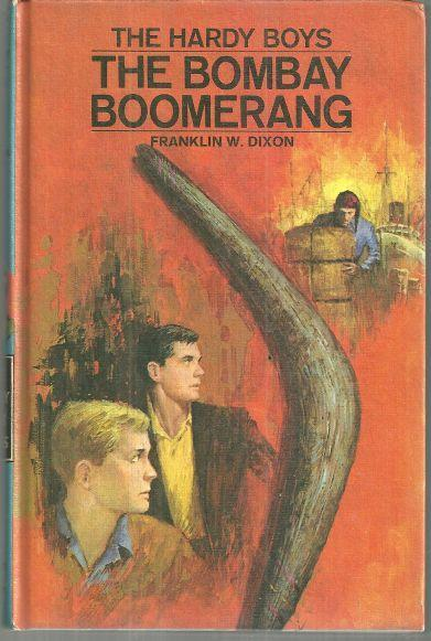 Bombay Boomerang by Franklin Dixon Hardy Boys Series #49 Matte Blue Cover 1970