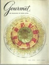 Gourmet Magazine July 1972 Molded Salmon Mousse on the Cover/Cheese/Oslo/Corn