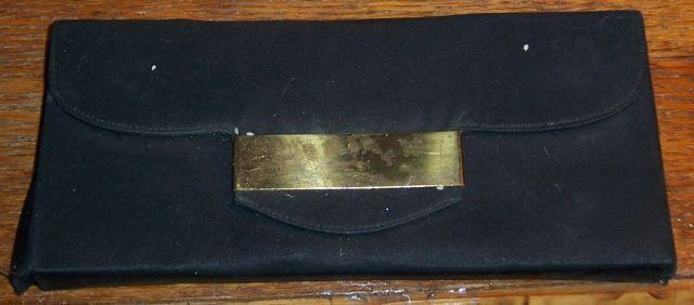 Vintage Dorset Fifth Avenue Black Carryall Compact/Cigarette Case/Lipstick/Comb