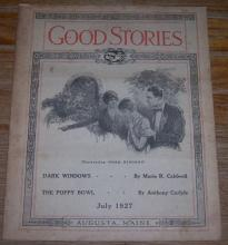 Good Stories Magazine July 1927 Vintage Fiction, Poetry Recipes, Household