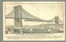 Victorian Trade Card for Lydia Pinkham Compound with East River Bridge