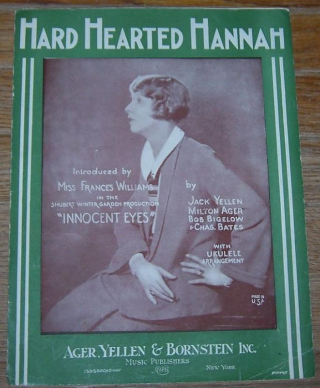 Hard Hearted Hannah Introduced by Miss Frances Williams in Innocent Eyes 1924