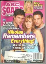 ABC Soaps in Depth Magazine July 20, 2004 General Hospital Nikolas Remembers