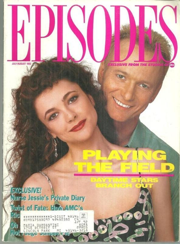 Episodes ABC Soaps Magazine July/August 1992 Emma Samms and Anthony Geary