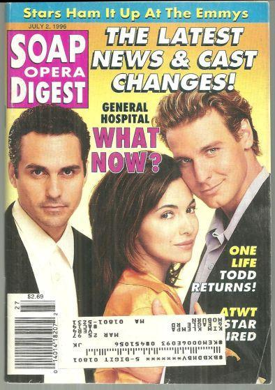 Soap Opera Digest July 2, 1996 Sonny, Brenda and Jax From General Hospital