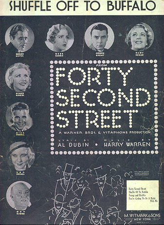 Shuffle Off to Buffalo from Forty Second Street 1932 Sheet Music