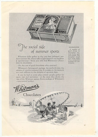 Whitman Chocolates 1926 Advertisement