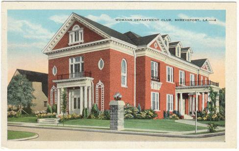 Postcard Woman's Department Club, Shreveport, Louisiana