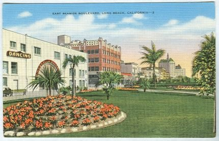 Postcard of East Seaside Boulevard, Long Beach, California