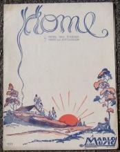 Home Words and Music By Peter Van Steeden and Harry and Jeff Clarkson 1931 Music