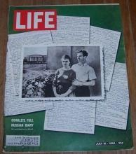 Life Magazine July 10, 1964 Oswald's Full Russian Diary on cover/MacArthur