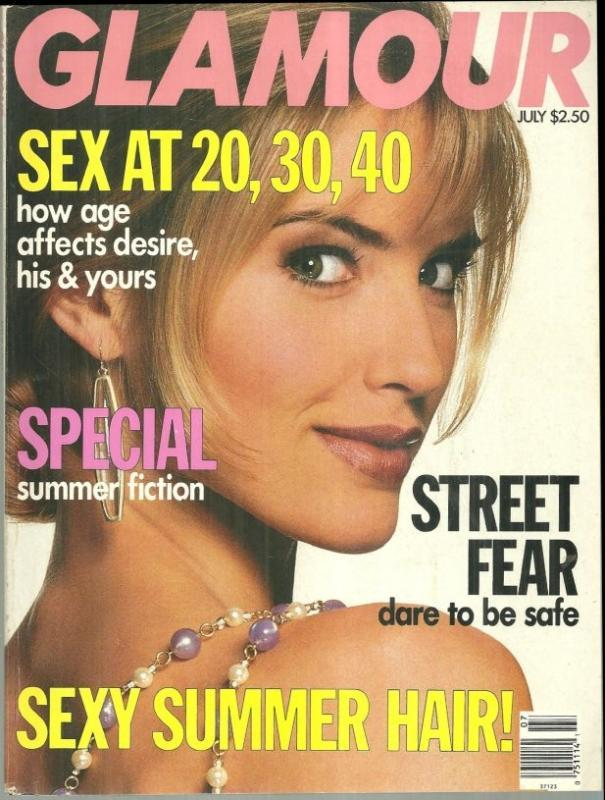 Glamour Magazine July 1991 Lighten Up, Perfect Summer Makeup, Summer Fiction