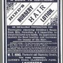 Vintage Hind's Nursery Hair Lotion Label A Boon to Mothers