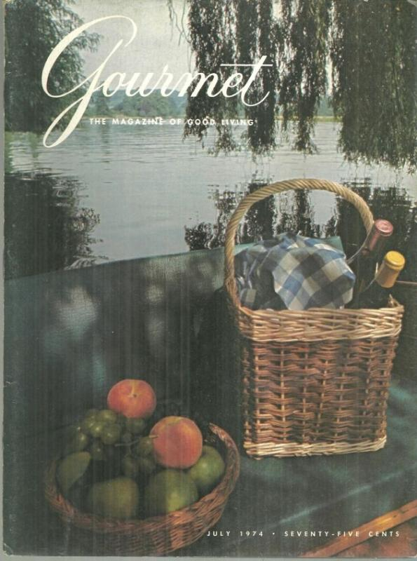 Gourmet Magazine July 1974 July Picnic on the Cover/Chicken/Luncheon/