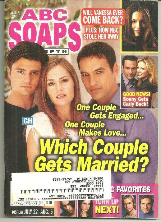 ABC Soaps in Depth August 5, 2003 GH Which Couple Gets Married on Cover