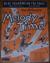 Blue Shadows on the Trail From Walt Disney's Melody Time 1948 Sheet Music