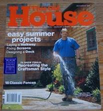 This Old House Magazine July/August 2000 Easy Summer Projects on the Cover