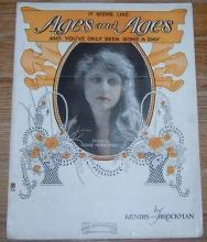 It Seems Like Ages and Ages and You've Only Been Gone a Day 1920 Sheet Music
