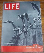 Life Magazine August 8, 1938 Into a Quincy Quarry on the Cover/Swing Music
