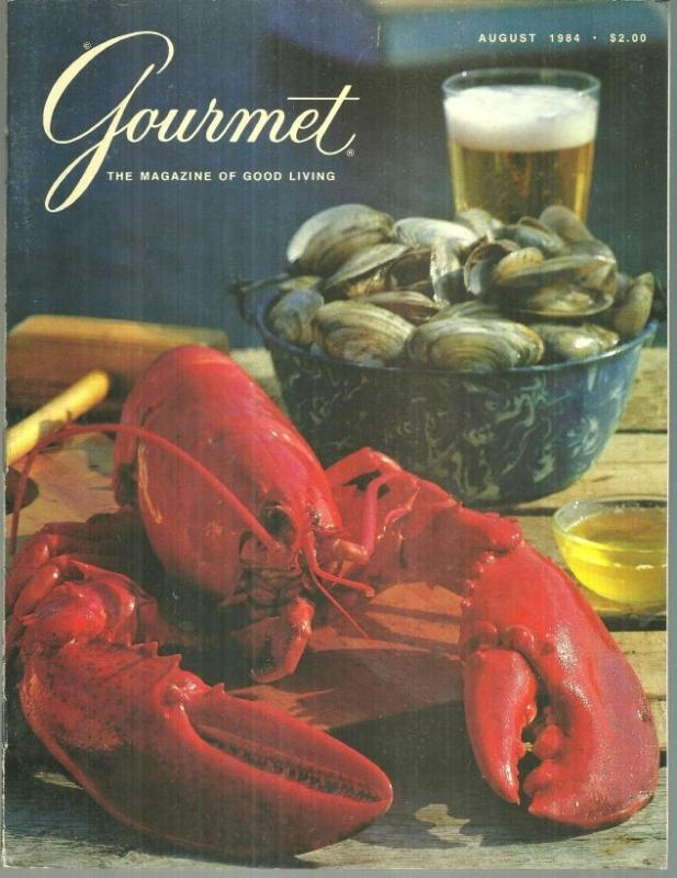 Gourmet Magazine August 1984 Lobster in the Rough/Summer Pasta/Austria/Salads
