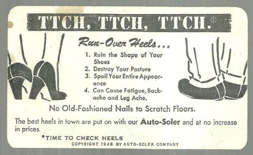 Vintage Lucky 7 Card for Al's Shoe Service, Natrona Heights, Pennsylvania