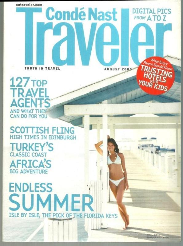 Conde Nast Traveler Magazine August 2005 Botswana/Edinburgh/Turkey/Florida Keys