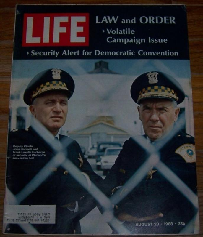 Life Magazine August 23, 1968 Law and Order in Chicago on the Cover/Joel Grey