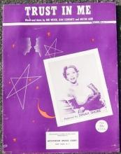 Trust in Me Sung by Dinah Shore 1952 Sheet Music