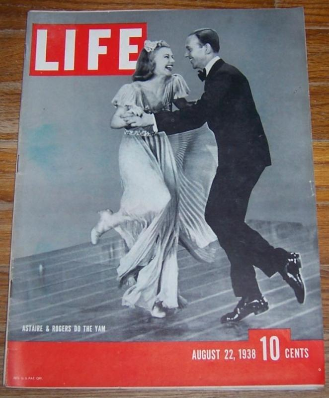 Life Magazine August 22, 1938 Astaire and Rogers Do the Yam on the Cover