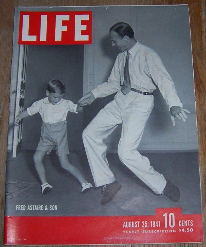 Life Magazine August 25, 1941 Fred Astaire and Son on cover/Punch English Humor