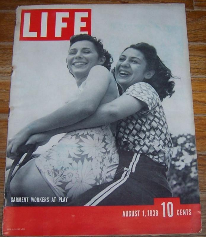 Life Magazine August 1, 1938 Garment Workers at Play on the Cover/Harold Lloyd