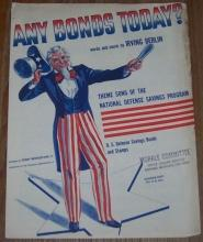 Any Bonds Today Theme Song of the National Defense Savings Program 1941 Music