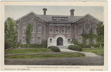 Home Science Hall East Northfield, MA Handcolored Postcard