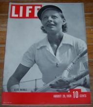 Life Magazine August 28, 1939 Alice Marble on Cover/Wizard of Oz Ad/Hedy Lamarr