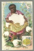 Victorian Trade Card For Fairbank's Cottolene with African American Lady
