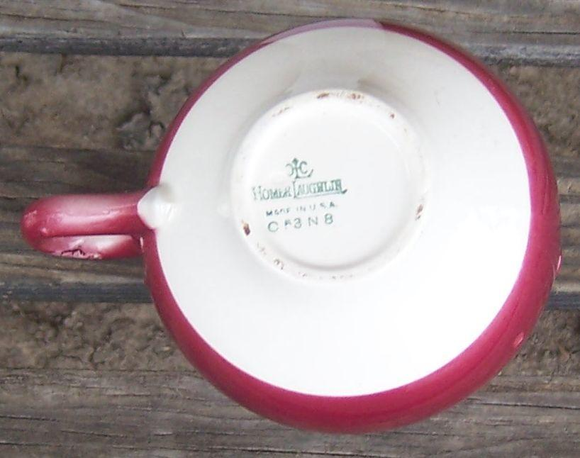 Homer Laughlin Charm Creamer Burgundy/Maroon Color with White